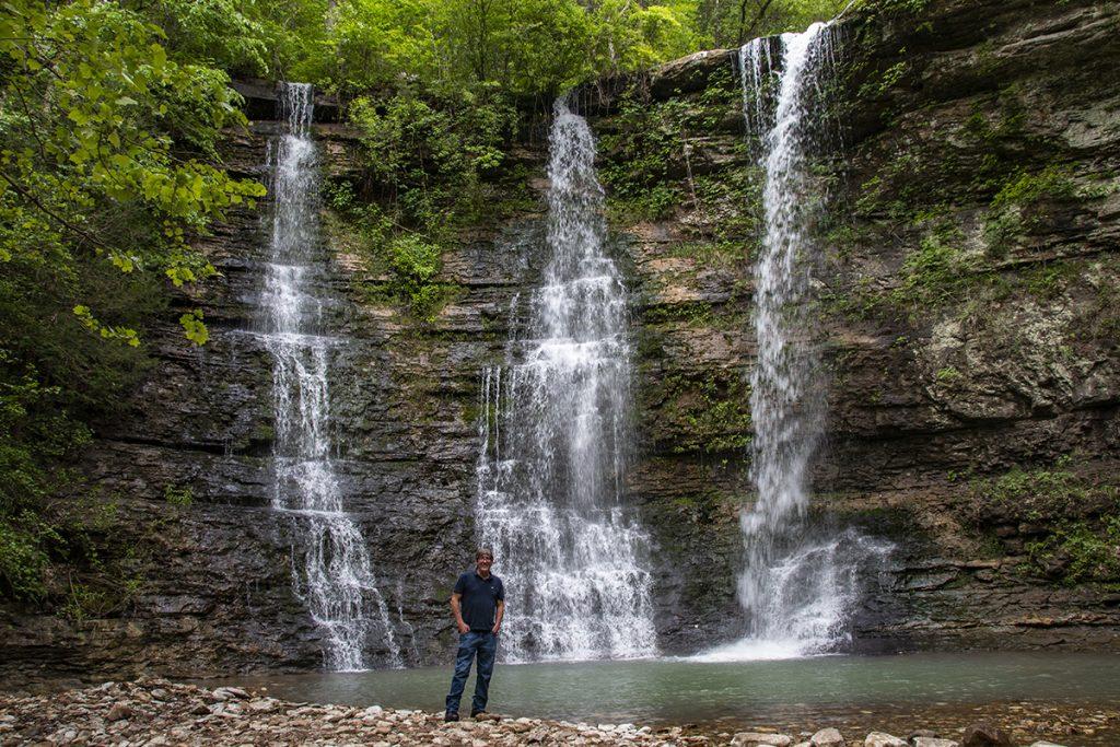 Bill at the falls