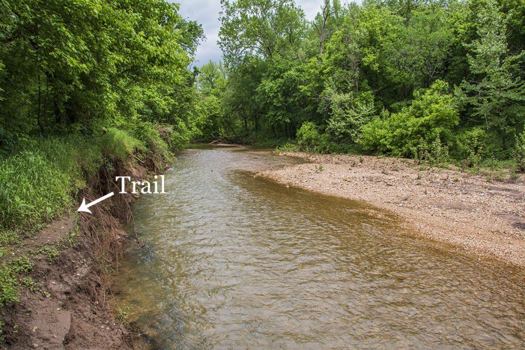 Mill Creek Trail Downstream from Marble Falls