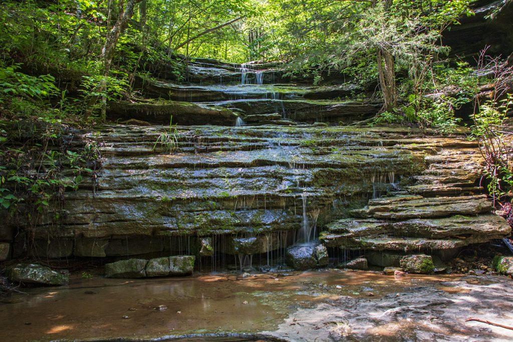 below the cascade at Liles falls