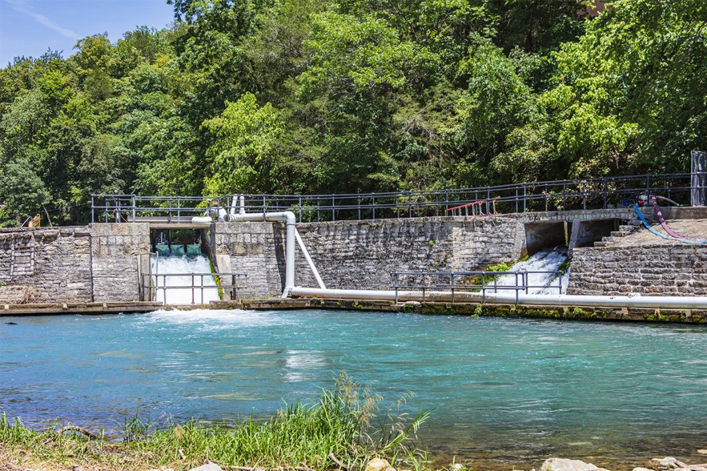 Water release from Roaring River Spring