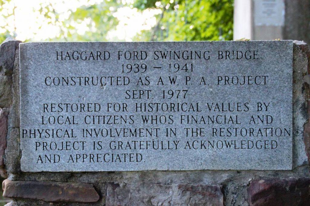 Haggard Bridge Sign