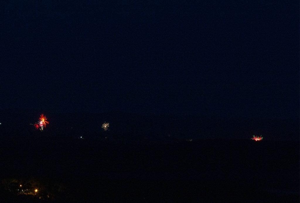 Fireworks on the horizon