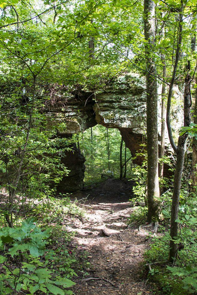 Arch at pedestal rocks