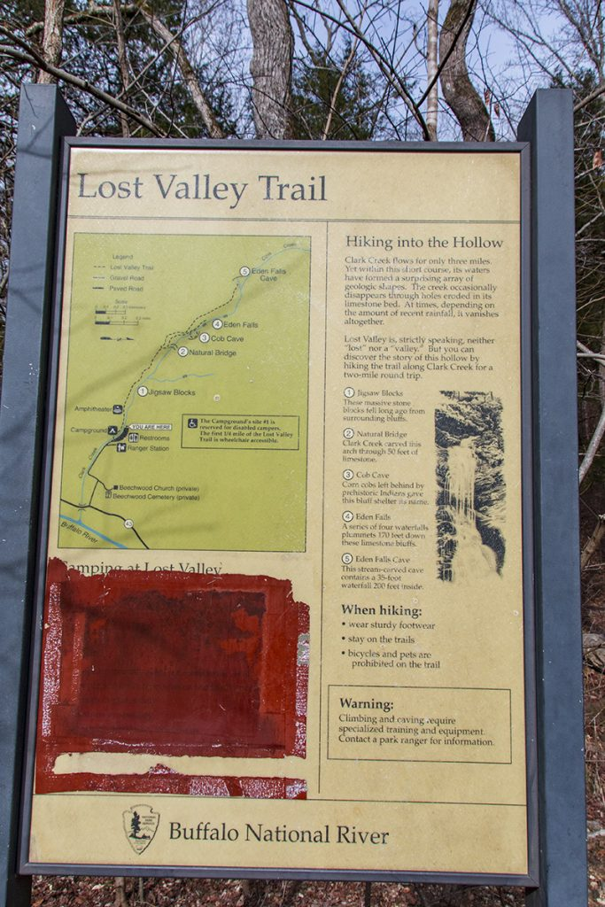 lost valley trail sign