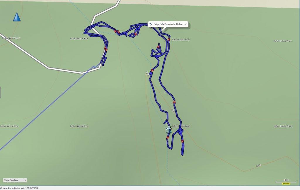 Paige Falls GPS Track