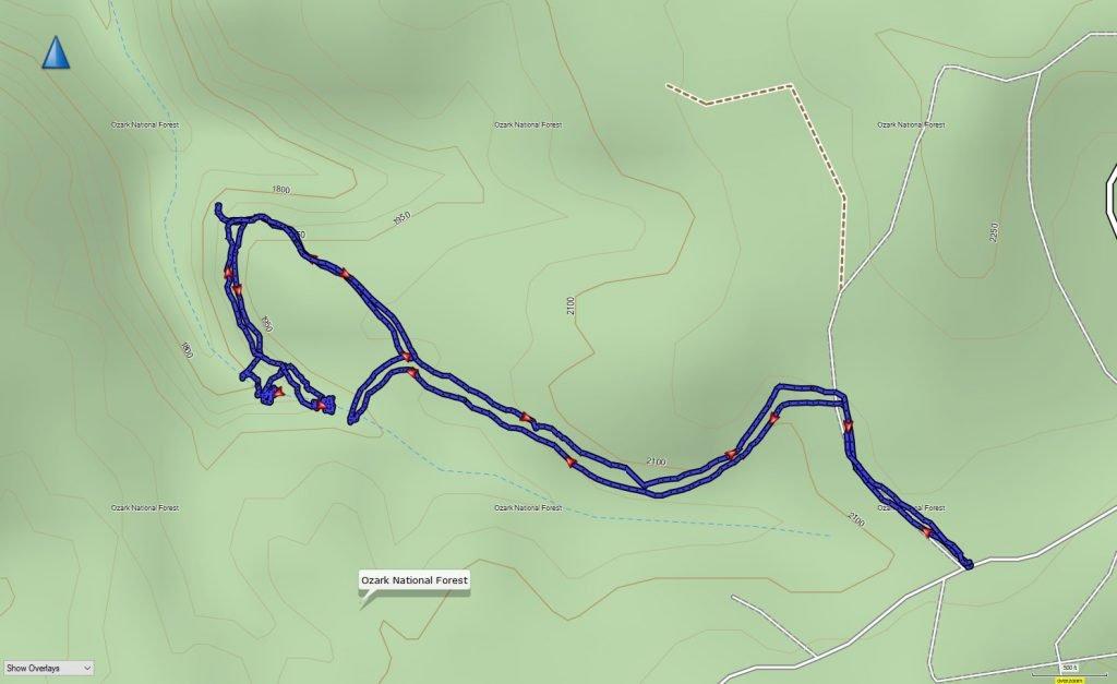 Magnolia Falls GPS Track