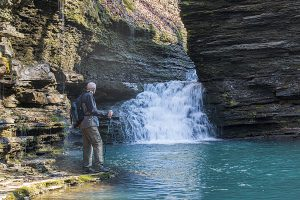 Slot Pool Falls in bear creek canyon