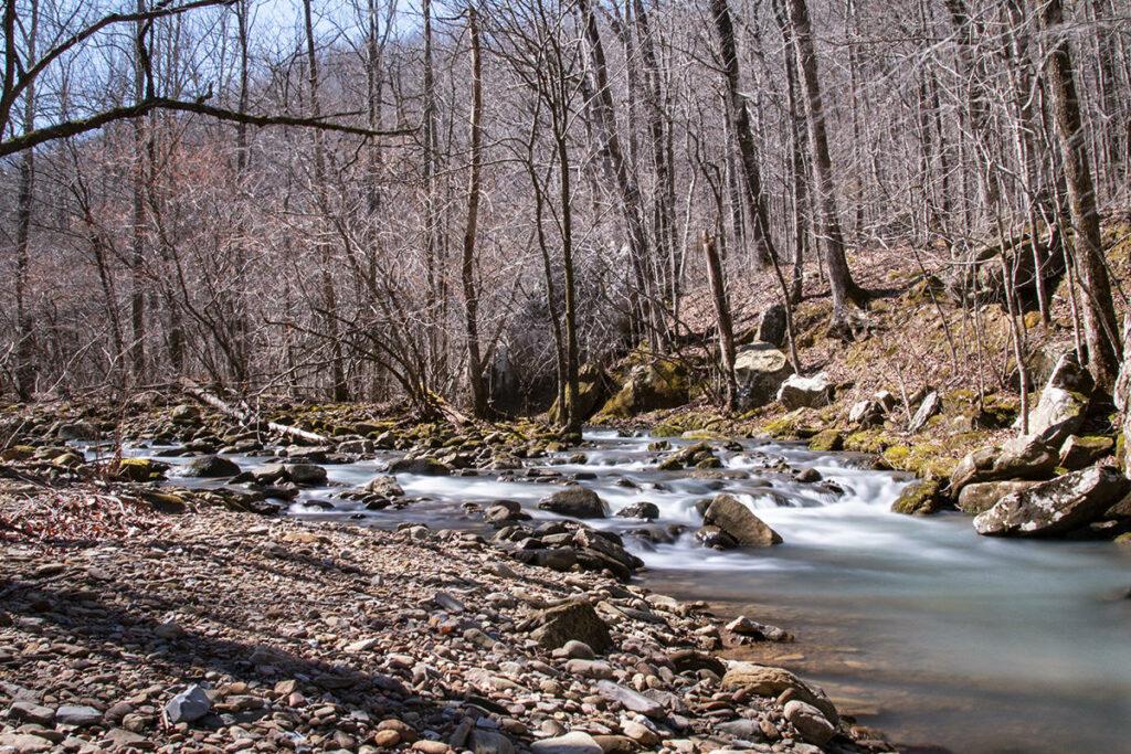 Big Creek And Wolf Creek Converge