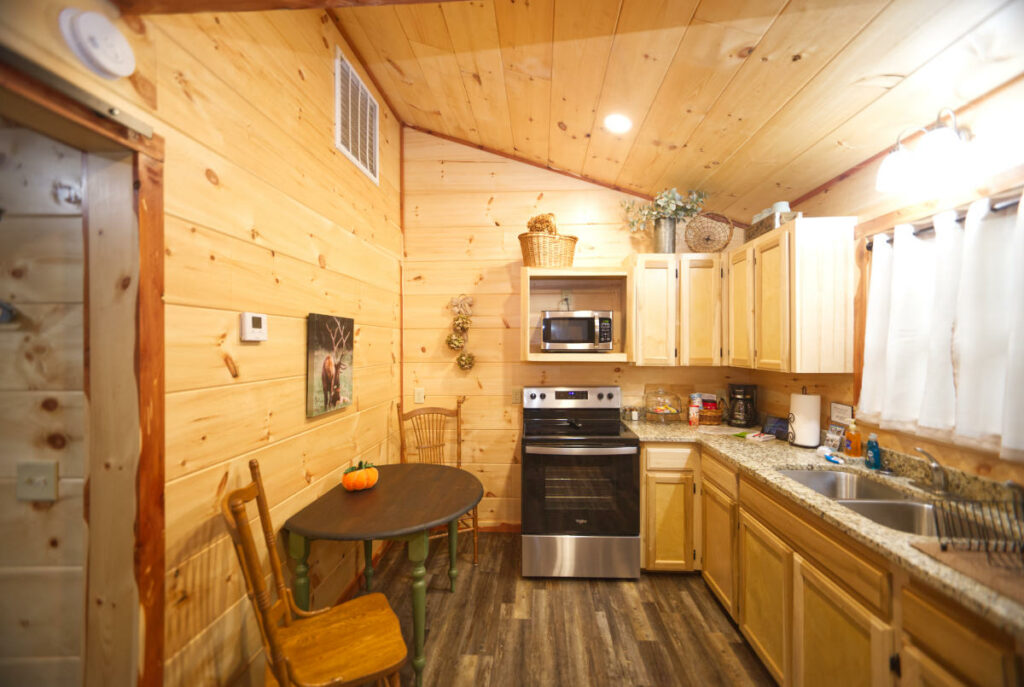 heavens door cabins kitchen