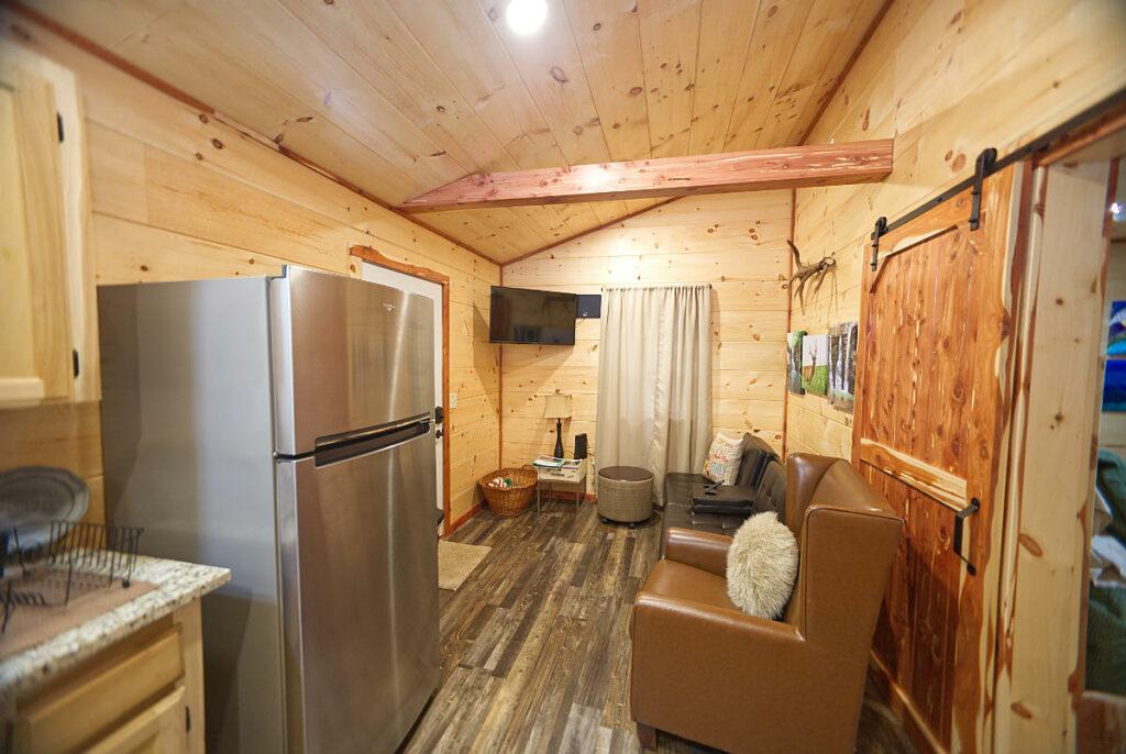 heavens door cabins living area