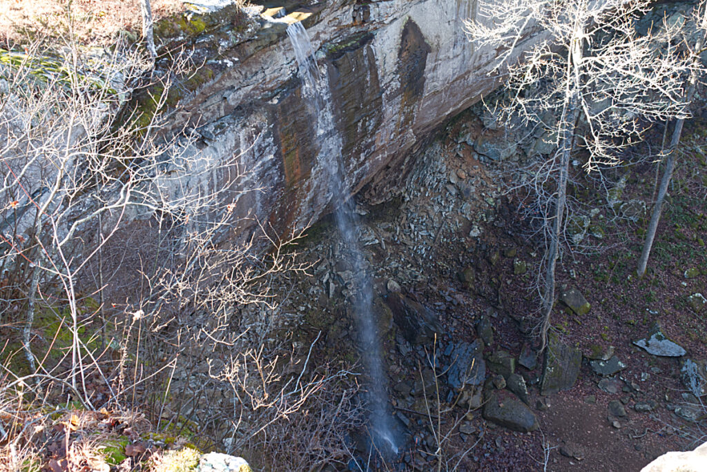 sweden falls from upper trail