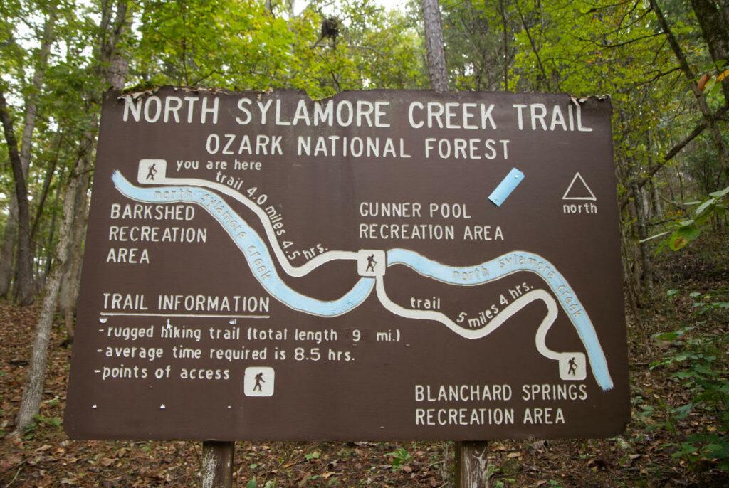 North Sylamore Creek Trail Sign